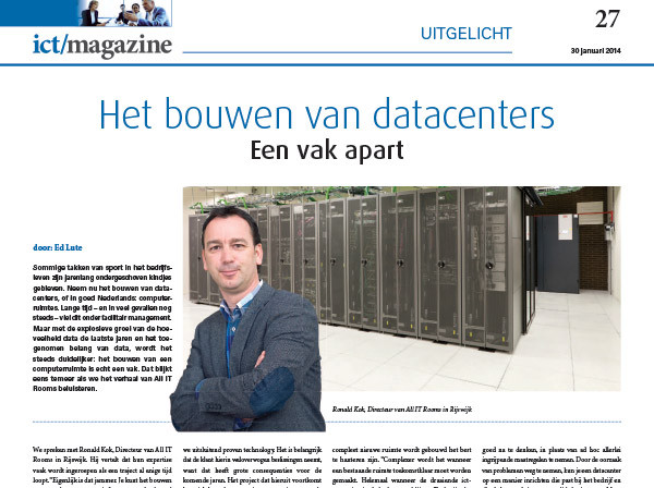 ALL IT Rooms - Nieuws - ICT magazine_detail